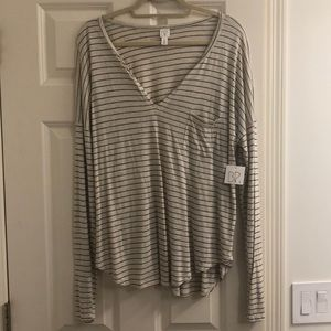 NWT BP Stripped Off White Top